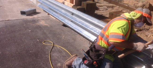 Construct Concrete Barrier and Midwest Guardrail System